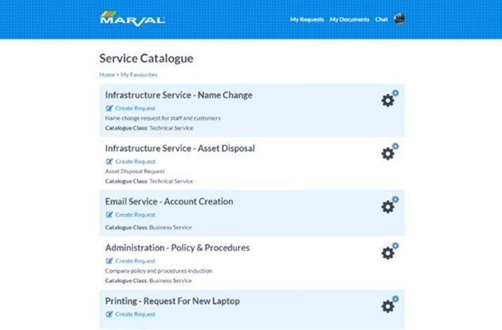 Self Service | Marval